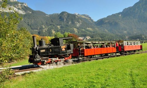 Zug mit Lok No. 3 auf der Adhгionsstrecke Eben-Achensee um 2010 (Foto: Achenseebahn)