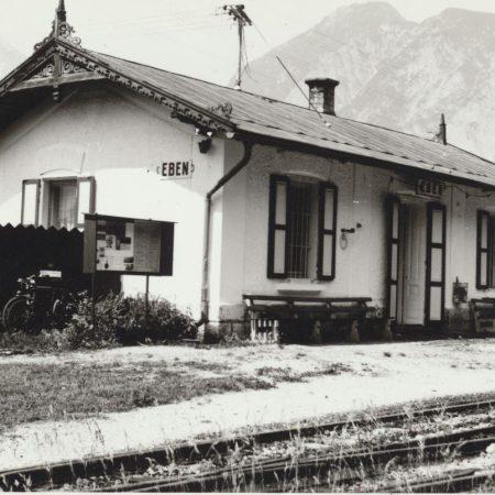Die Station Eben um 1900