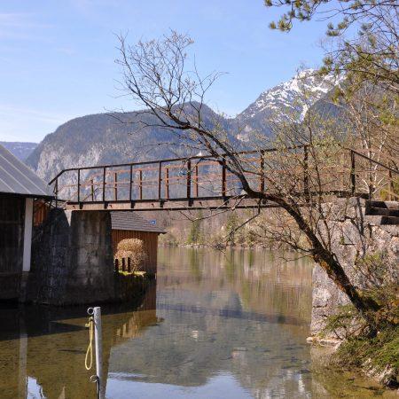 Hallstatt: Obertraun-Brücke über den ehemal. Salinenhafen